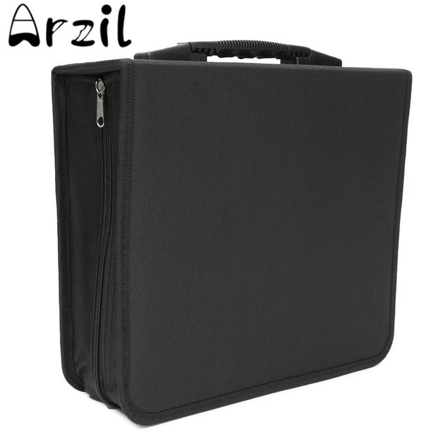Oxford Cloth Large 288 Disc CD DVD Storage Box Case Carry Bag Binder Book  Sleeves Rack