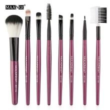 Makeup-Brushes-Set Eyeshadow Foundation Eyebrow-Lip Professional MAANGE Blending 8PCS