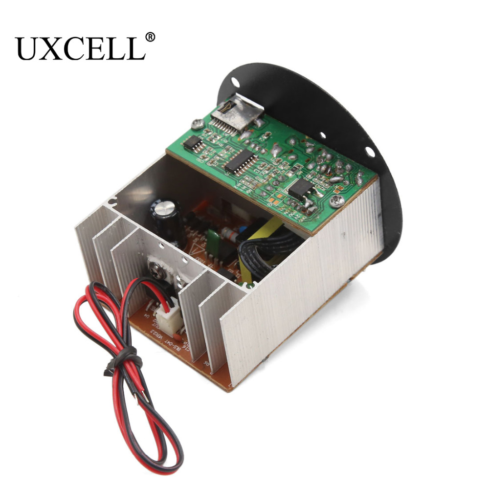 UXCELL DC 12V USB TF MP3 Hi-Fi Audio Bass Subwoofer Power Amplifier Board for Auto Car sencart b22 3w 150lm warm white 2900 3200k cob led spot light ac 85 265v
