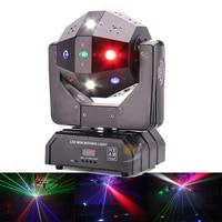 16 Pieces 3in1 LED Moving Head with RG Laser strobe beam Football Light DMX512 Laser Light DJ Light