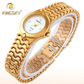 Mujeres Relojes de Pulsera de Cuarzo de Oro Relojes Mujeres Marca de Lujo de Las Señoras Reloj de Acero de Oro Rosa Reloj Mujer reloj Mujer Del Relogio Feminina