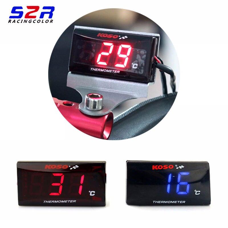 Motorcycle 12 V Digital Thermometer Moto LED Engine Water Temperature Instrument For yamaha honda suzuki KTM BWM Kawasaki Ducati optical instrument