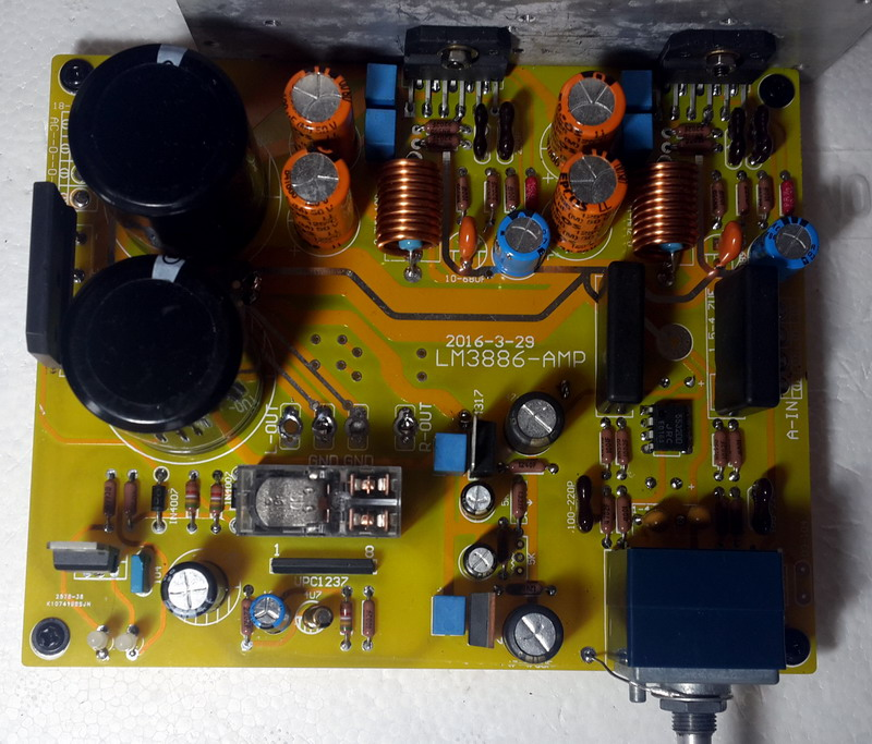 lm3886 power amplifier board 5532 independent op amp front amplifier integrated with protection. Black Bedroom Furniture Sets. Home Design Ideas