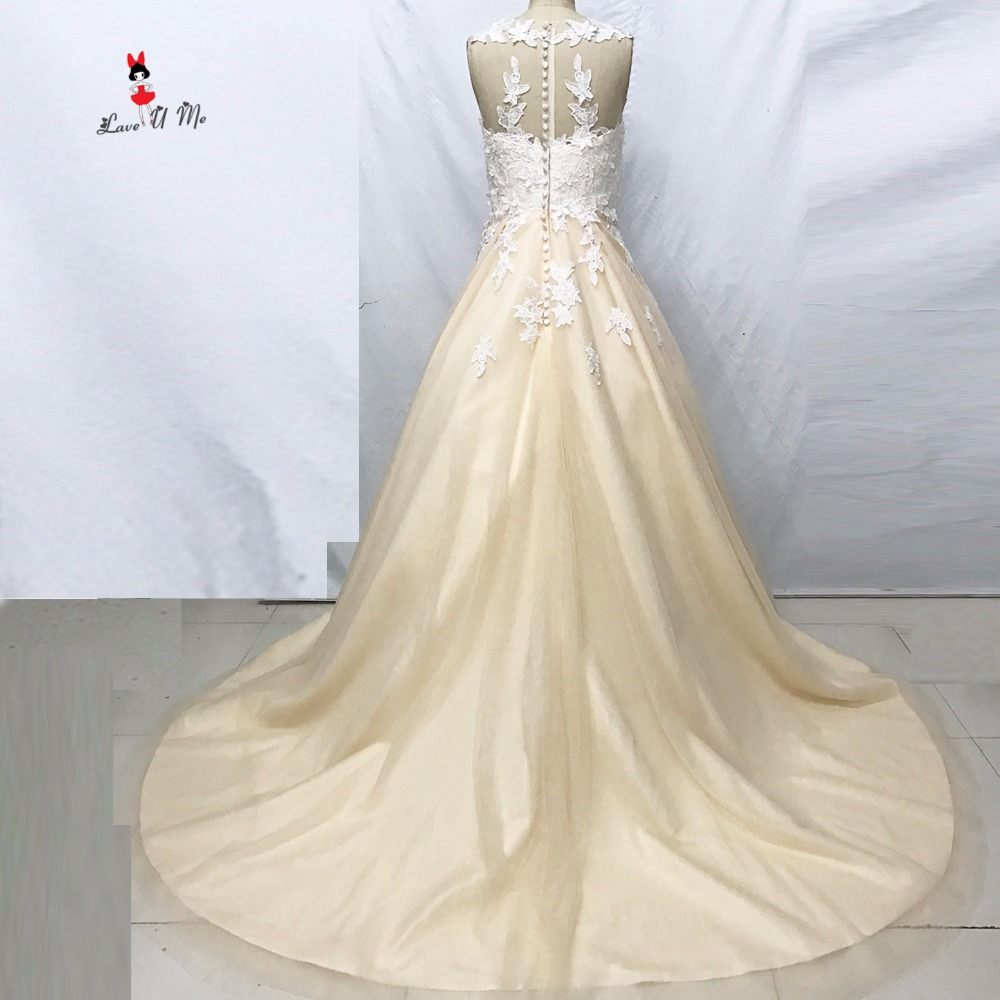 Fashion Champagne Turkey Wedding Dresses Ball Gown Bride Dress 2017 ...