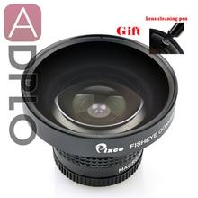 Pixco 37 мм 0.25X Супер Рыбий глаз широкоугольный объектив+ с ручкой для очистки объектива