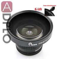 Pixco 37 мм 0.25X Супер Рыбий глаз широкоугольный объектив + с ручкой для очистки объектива