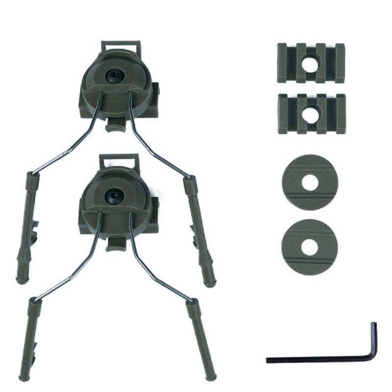 Capacete acessórios tipo fone de ouvido titular capacete rápido trilho adaptador conjunto bk/de/fg capacete ferroviário suporte suspensão