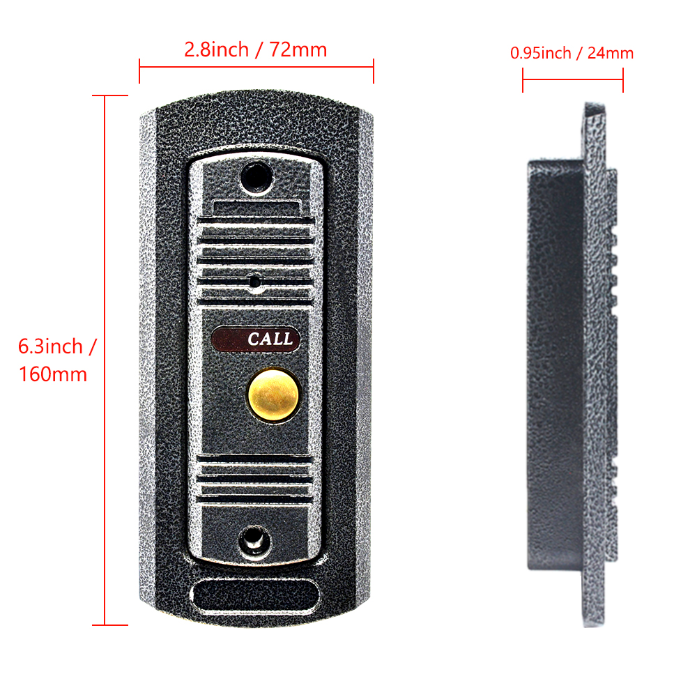 7 monitor video intercom video door phone system IR Night Vision pinhole Camera wired video doorbell interphone kits 2-monitor