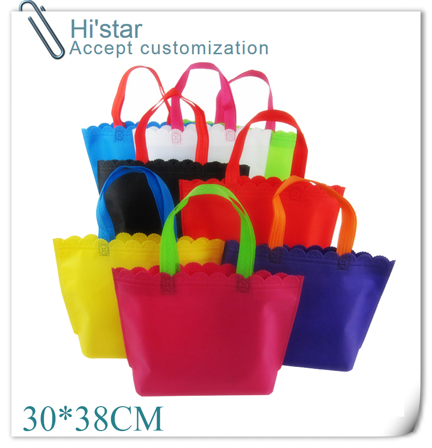 30*38CM 20pcs/lot Custom Logo Printing Non-woven Shopping Bag Used For Promotion/gift/advertisement And Shopping Purposes