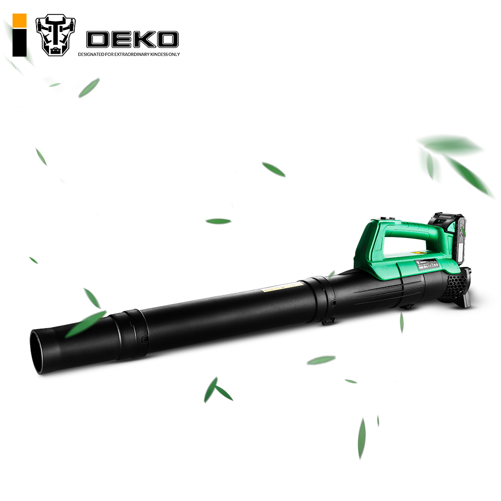 DEKO Li-ion Battery Cordless Leaf Blower Cordless String Blower 20V 1500mAh Electric Air Blower Cordless Sweeper Garden Tools(China)