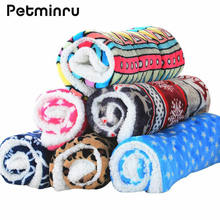 Мягкое одеяло petminru для маленьких кошек и собак флисовая