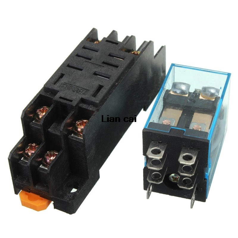 Katigan JQX-13F LY2 AC 24V Bobine 8 broches DPDT LED rouge Relais electromagnetique
