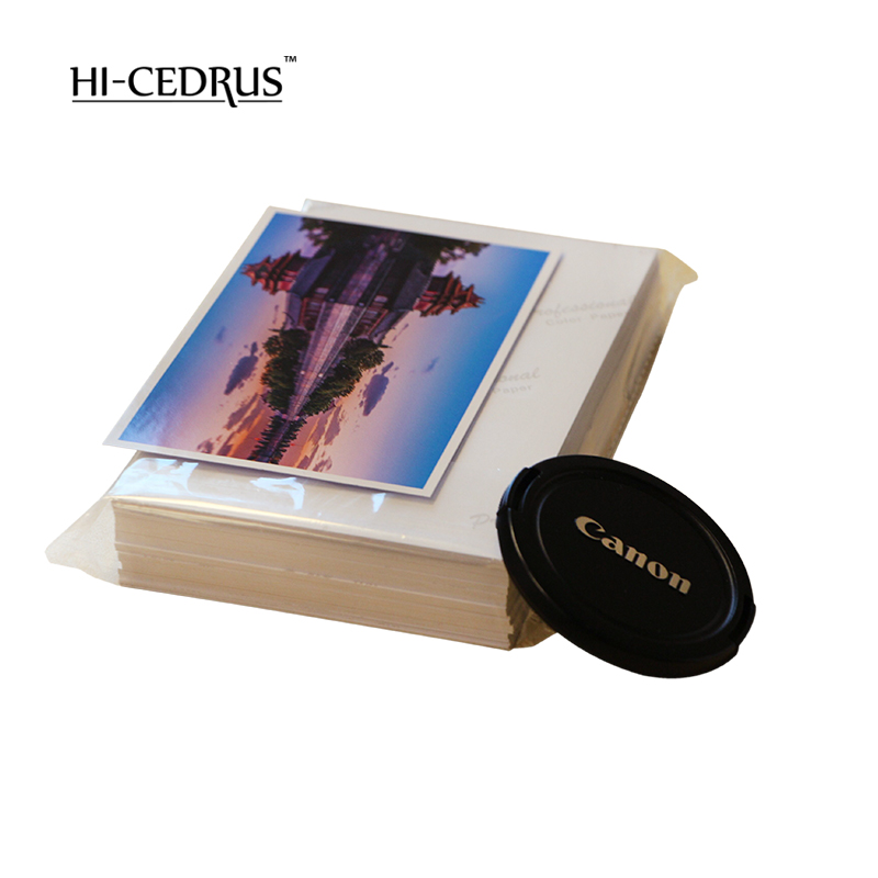 High glossy photo paper A4 4R for color inkjet printer Luminous smooth surface foto