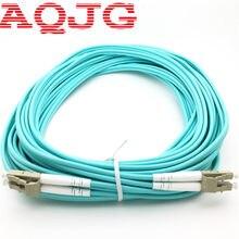 10pc 3M OM3 LC//LC UPC Duplex Multimode 10GB Fiber Cable Aqua Optical Patch Cord