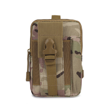 Men Tactical Bag Small Pocket Military Waist Pack Running Pouch Trave Camouflage Waterproof Oxford Soft Back