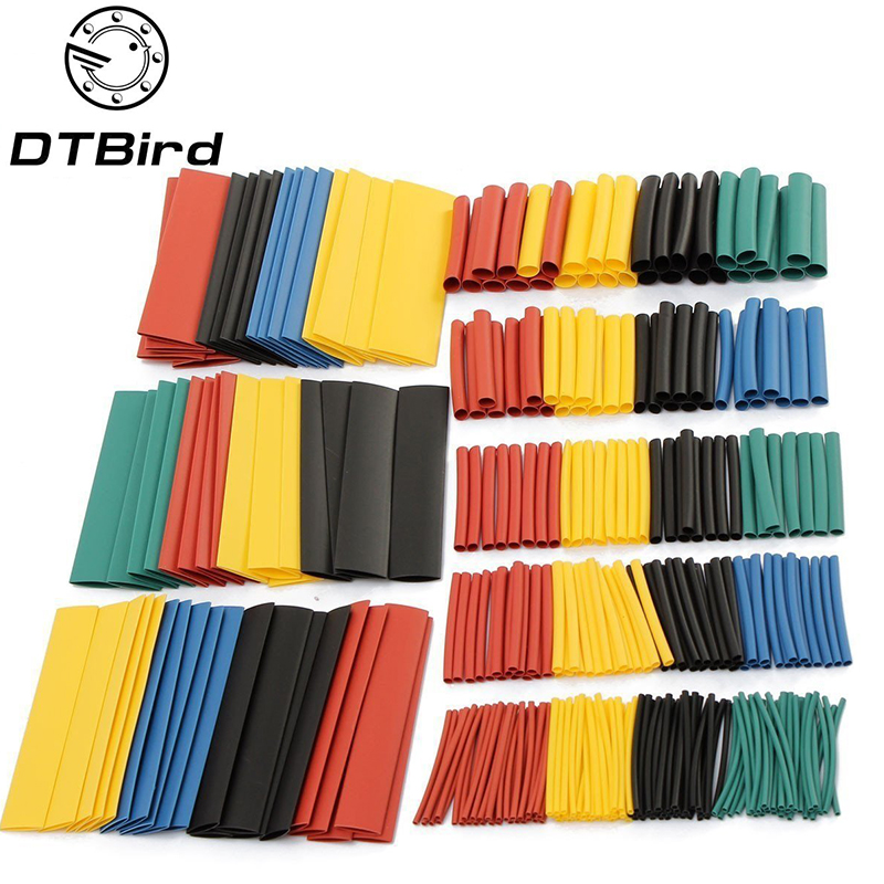 328Pcs/Lot Polyolefin Assorted Heat Shrink Tubing Insulation Shrinkable Tube Wrap Wire Cable Multicolor Tools