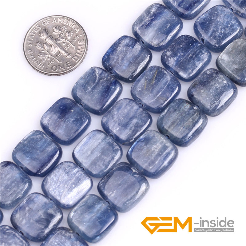 Kyanite: Square Shape Kyanite Beads Natural Stone Beads DIY Beads For Fashion Jewelry Making Strand 15