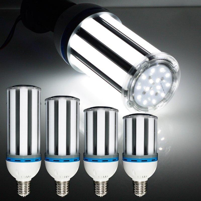 2 pcs/lot 27 w 36 w 45 w 54 w 5500LM e40 lumière LED ampoule lampe 85-265 V cylindre Plug lampe 5730 SMD lumière de maïs