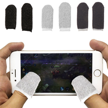 1 Pair Mobile Finger Stall Sensitive Game Controller Sweatproof Breathable Finger Cots Accessories for Iphone Android anti static elastic finger cots stalls yellow size l 50 pcs