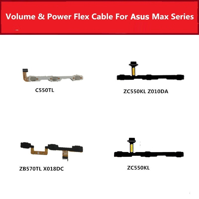 Volume & On Power Flex Cable For Asus Zenfone 4 Max ZC550TL ZC550KL ZC550KL ZB570TL X018DC Switch Button Key Side Flex Ribbon