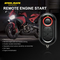Steelmate 986E Motorcycle Alarm System 1 Way Remote Engine Start Moto Engine Immobilization with Mini Transmitter