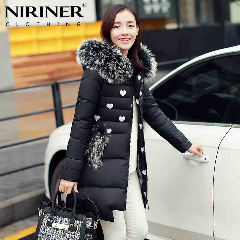 2016 new Hot winter Thicken Warm Woman Down jacket Coat Parkas Outerwear Luxury Hooded Raccoon Fur collar long plus size XL Slim 2015 hot new thicken warm woman down jacket coat parkas outerwear raccoon fur collar luxury slim long plus size xl hooded splice