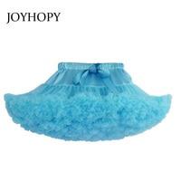 Girls Fluffy Quality Chiffon Pettiskirt Solid Colors tutu skirts girl Dance Skirt Christmas Tulle Petticoat