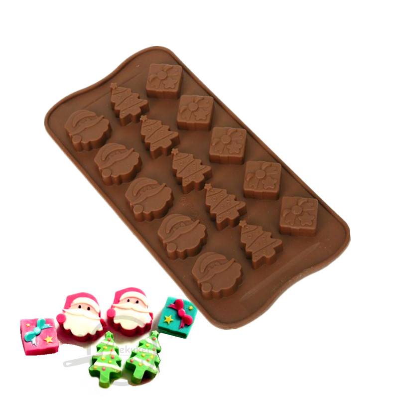 atekuker christmas candy mold silicone form molds for chocolate cake decorating ice moulds form for candy in cake molds from home garden on aliexpresscom - Christmas Candy Molds