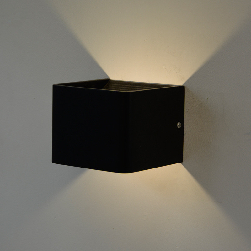 direct sale LED rectangular wall lamp entrance corridor corridor background wall black decorative lamp simple fashion|Wall Lamps| |  - title=