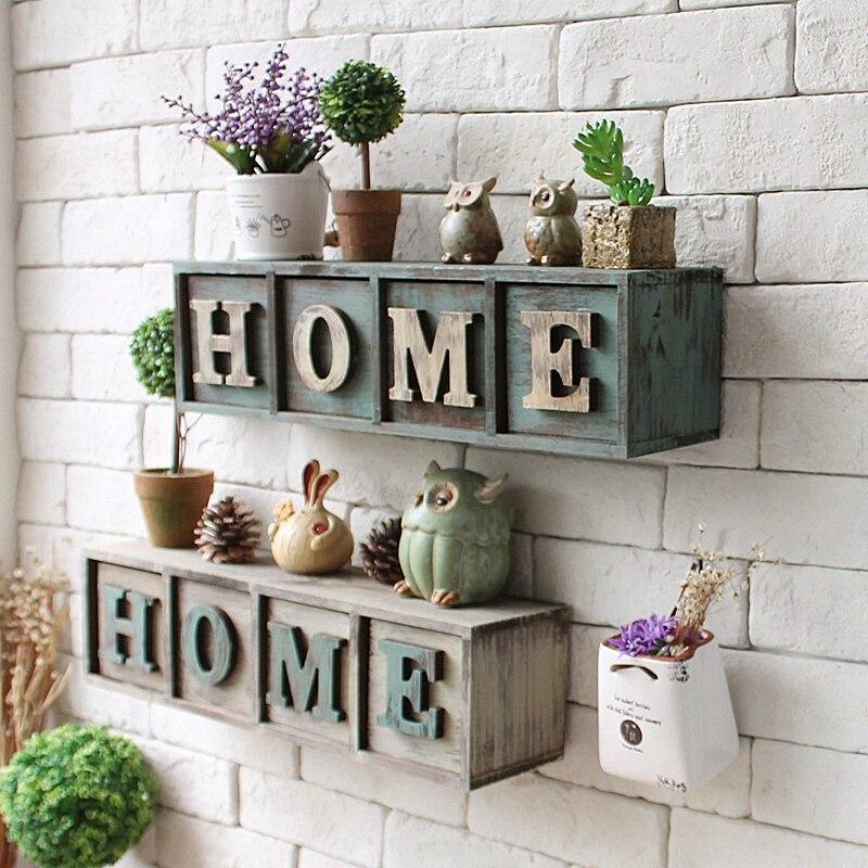 Américain Postral Style maison 4 tiroir mur stockage Rack étagère murale articles divers boîte décor à la maison cadeau créatif mur tiroir chaud