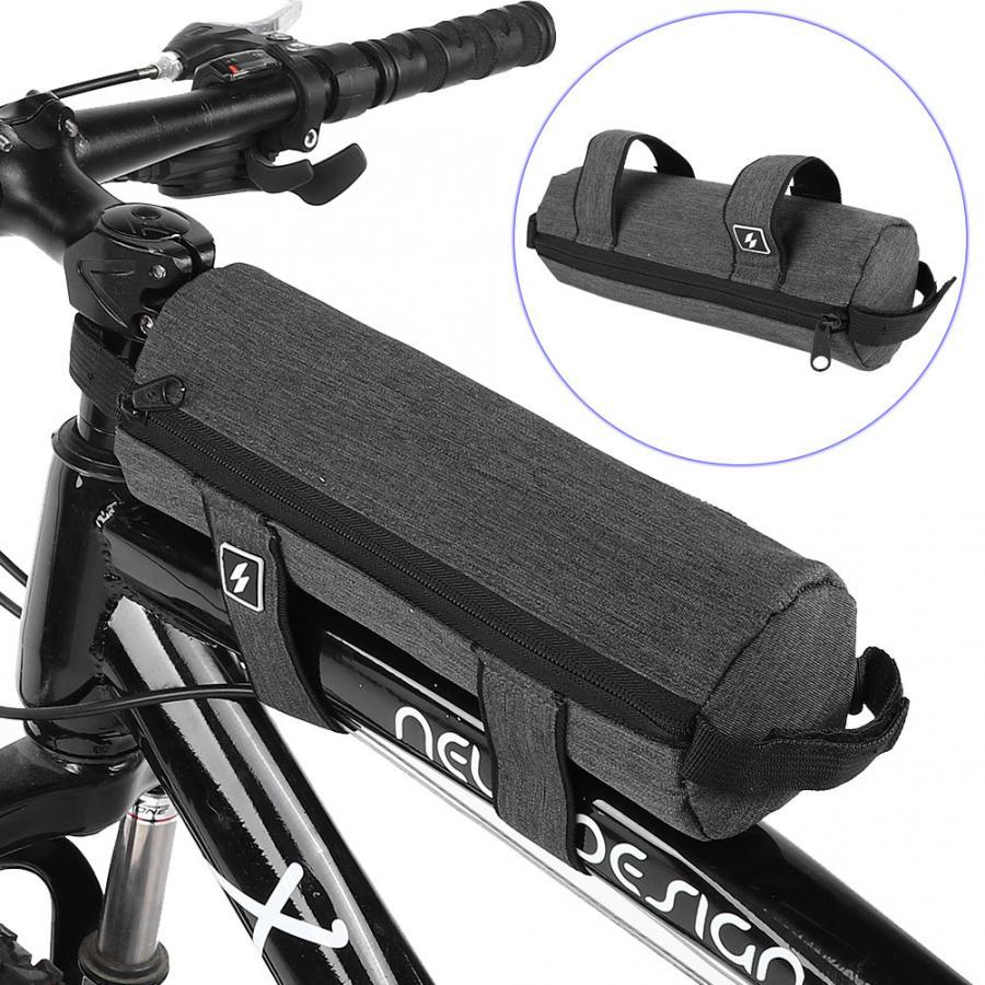 Bicycle Roll Bag /& Handlebar Bag Front Tube Extra Large Capacity 0.7L Gray