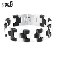 Effie Queen 2017 Mx Color Men S Bracelets Bangles 2cm Width High Quality Stainless Steel Wrist