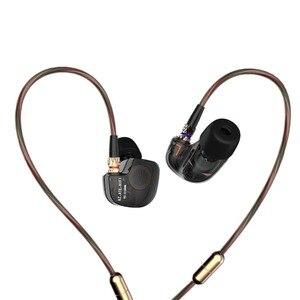 Image 2 - KZ ATE 1DD الديناميكي سائق HiFi سماعات رياضة إلغاء الضوضاء في الأذن رصد سماعات للألعاب مع ميكروفون شفاف