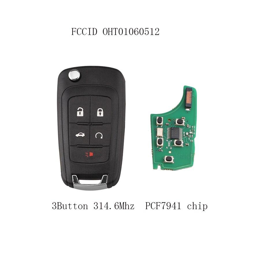 5 Knoppen 314.6 Mhz Met Pcf7941 Chip Voor Chevrolet Camaro Cruze Equinox Malibu 2010-2016 Autosleutel Hu100 Blade Bevordering Van Gezondheid En Genezen Van Ziekten