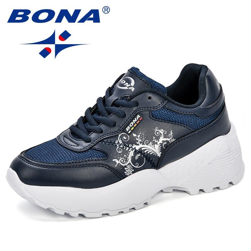 BONA New Designer Woman CasualShoes Breathable Sneakers Women New Arrivals Fashion Platform Ladies Shoes Comfortable Trendy 3