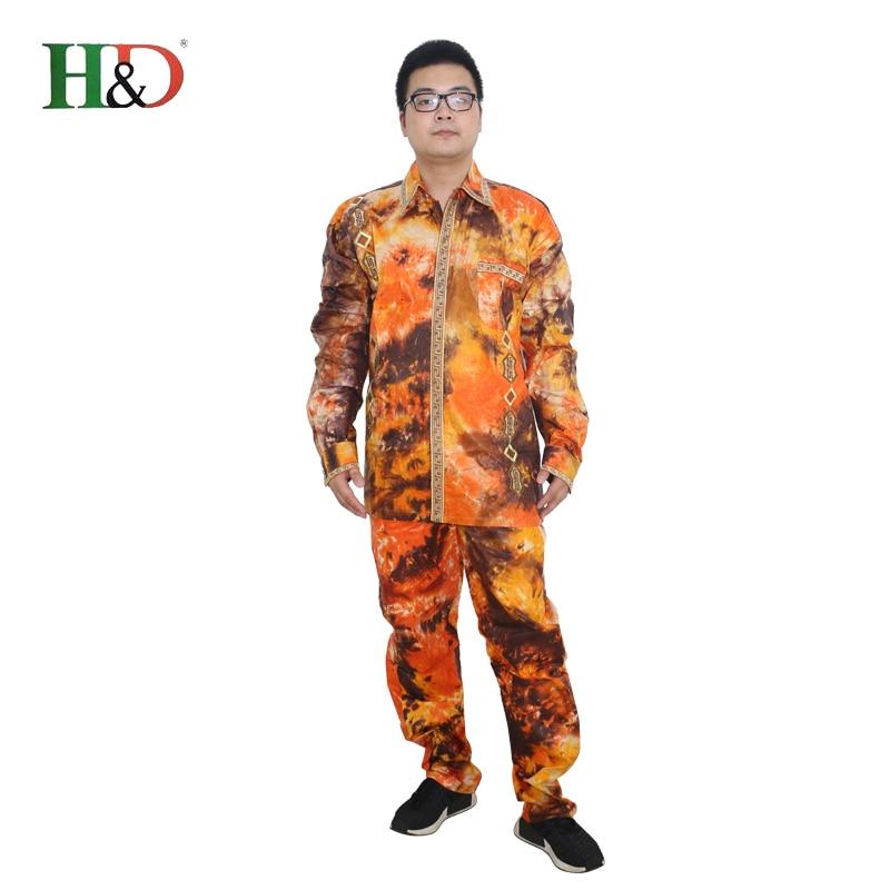 H & D lelaki lelaki Afrika sesuai baju pakaian tradisional dashiki - Pakaian kebangsaan - Foto 2