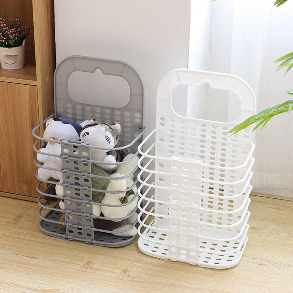 Large Laundry Bag Clothes Storage Baskets Home Clothes Bags Kids Toy Storage Household Folding Laundry Basket(China)