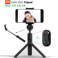 Orijinal Xiao mi mi Tripod Selfie Sopa Bluetooth 3.0 Uzaktan 360 Dönme hafif Katlanabilir Kompakt Android 4.3 + IOS 5.0 +