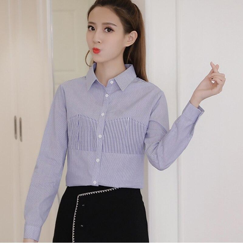 Shintimes Solide Spliced Bureau Dames Top Chemise de Travail Femmes Blusa Feminina Blusas Mujer De Moda 2018 Chemisiers Et Blouses Femme