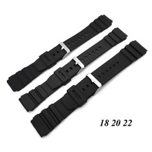 1PC Silicone Rubber Watch Strap Band Deployment Buckle Diver Waterproof 18mm - 22mm Watch Band