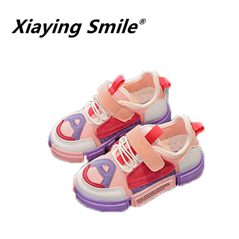 Xiaying smile 2018 new arrive autumn fashion shoes comfortable breathable antiskid outdoors casual sport shose boys grils