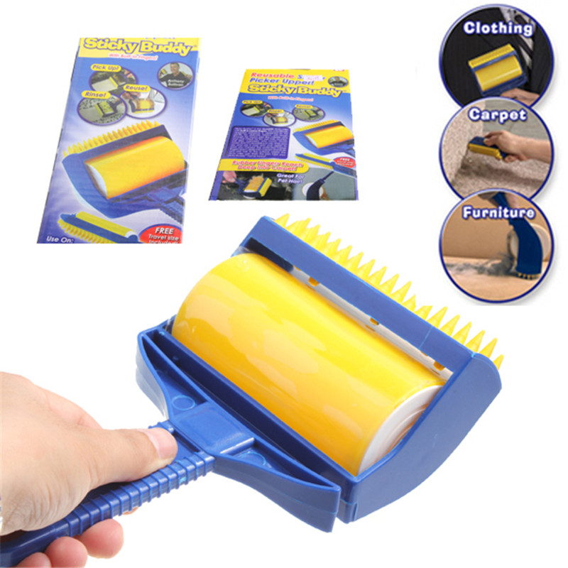 Reusable Sticky Buddy Picker Lint Sticking Roller Pet Hair Remover Brush Lint Hair Cleaning Brush Roller