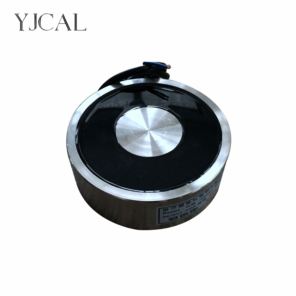 YJ-120/40 tenant l'aimant électrique d'électro-aimant de ventouse Dc 12 V 24 V levage cylindrique de la ventouse 300 KG chine