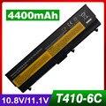 """4400 mah batería del ordenador portátil para lenovo thinkpad t410i t420 t420i t510 t510i t520 t520i w510 w520 w510 4389 edge 14 """"15"""" SL410 510"""