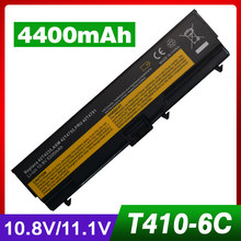 "4400 мАч аккумулятор для ноутбука Lenovo ThinkPad T410i T420 T420i T510 T510i T520 T520i W510 4389 W520 W510 Край 14 ""15"" SL410 510"