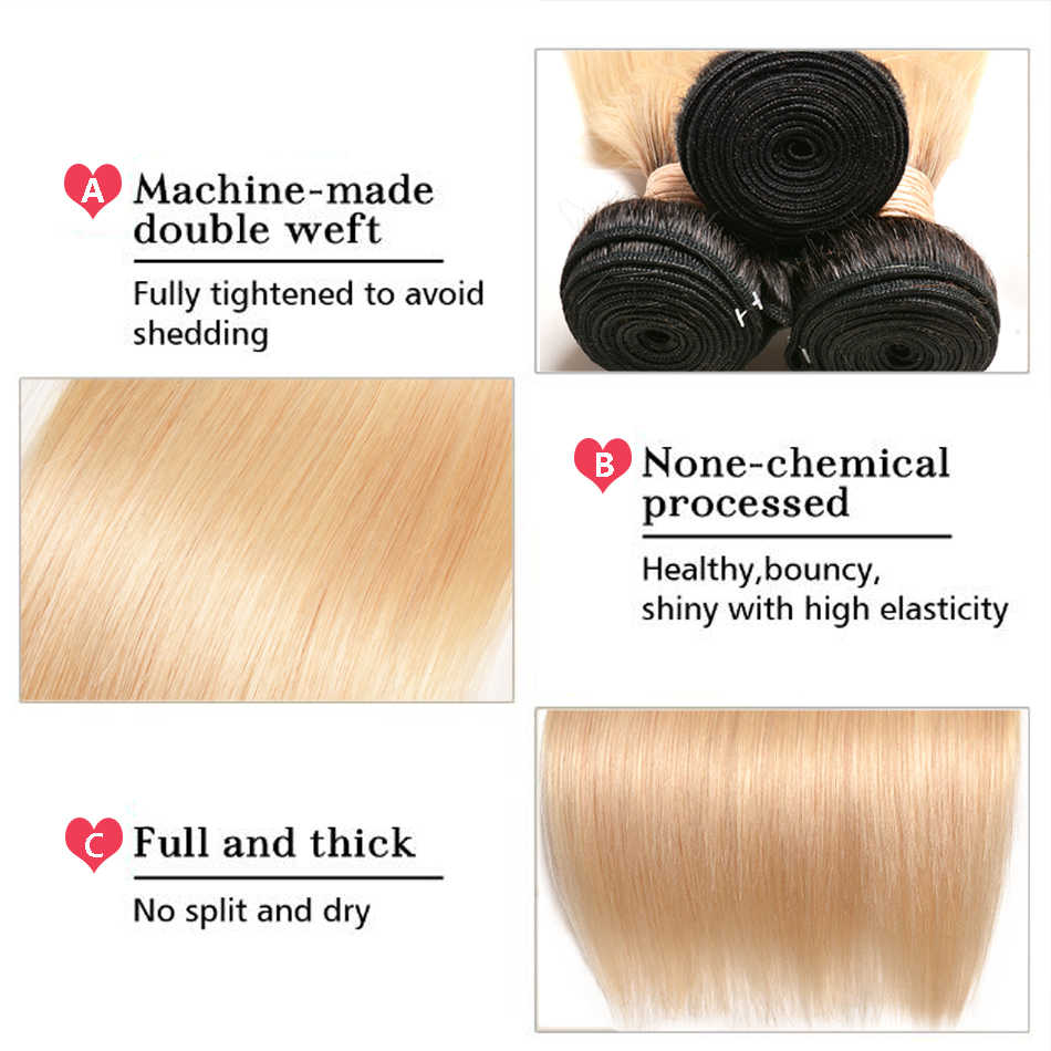 1B 613 прямые волосы Омбре пучки перуанских человеческих волос переплетения пучки темных корней Платина драгоценный камень красоты Remy 613 волосы оттенка медовый блонд
