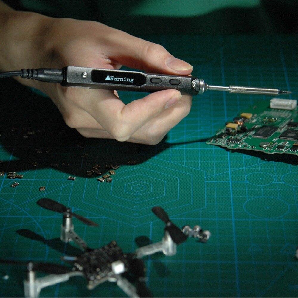Fers à souder électriques fer à souder numérique 12-24 V poste de soudage Interface programmable OLED DC5525 outils à puce intégrés