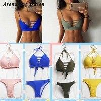 Arenaning Queen Sexy Summer Bikini Goddess Female Swimsuit Brazilian Mini String Swimming Wear Beach Women Bathing