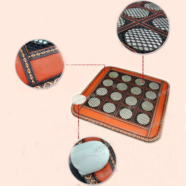 Hot Sale Natural Double can be Heated Jade Cushion Pad Thermal Health 45X45CM Free Shipping hot sale jade cushion electric heated hot selling jade heating massage cushion 45 45cm