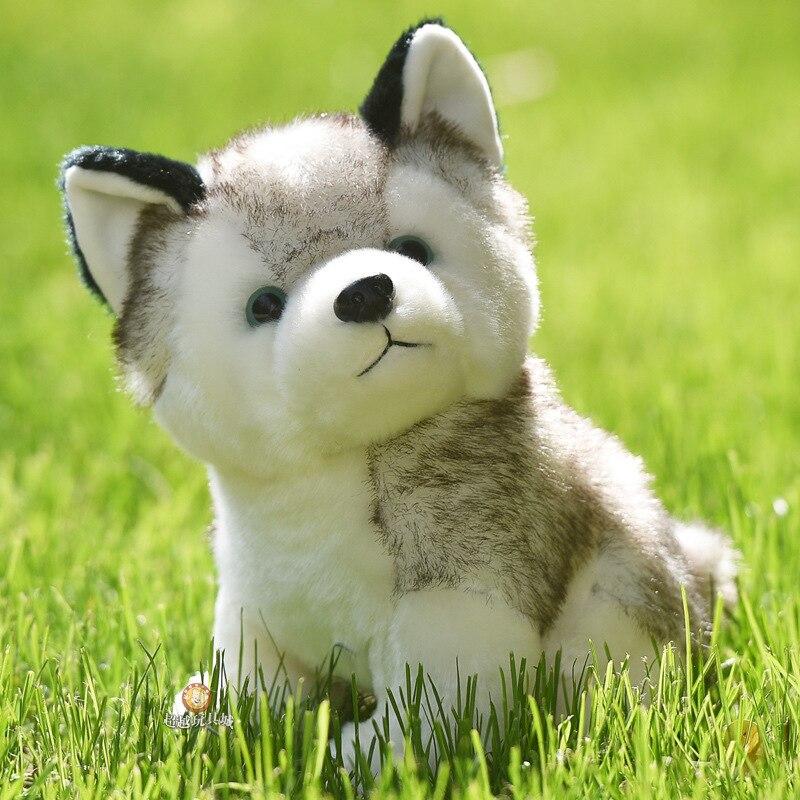 10 Styles Husky Toy , Kawaii Puppy Dog Stuffed Animal Doll Cute Simulation Husky Dog Keychain , Plush Toy For Kid Christmas Gift